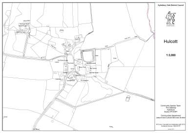 Map of Hulcott