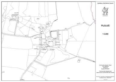 Map of Hulcott